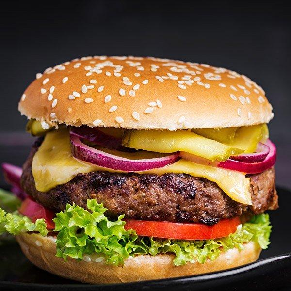burger de bison avec fromage