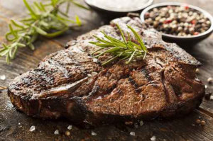 bison steak with rosemary