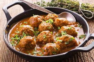 ground ostrich meatballs