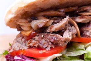 bison steak sandwich