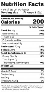 nutrition facts bison ground meat