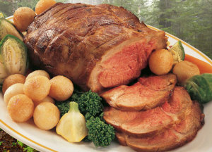 boar roast, with veggies