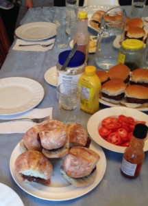 Burger festival on the table