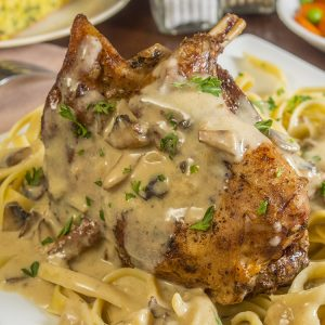 Rabbit in Mustard Sauce, Maple Syrup and Cream
