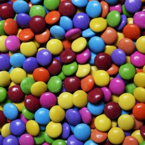 colourful smarties candies