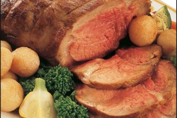 wild boar roast with potatoes