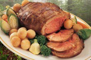 Roast wild boar shoulder