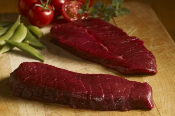 ostrich steaks raw