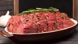 raw bison roast