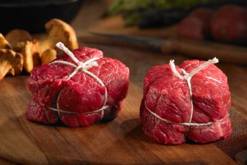 Bison medallions raw