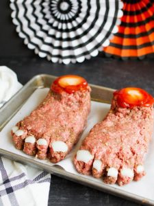 feet made from meat loaf