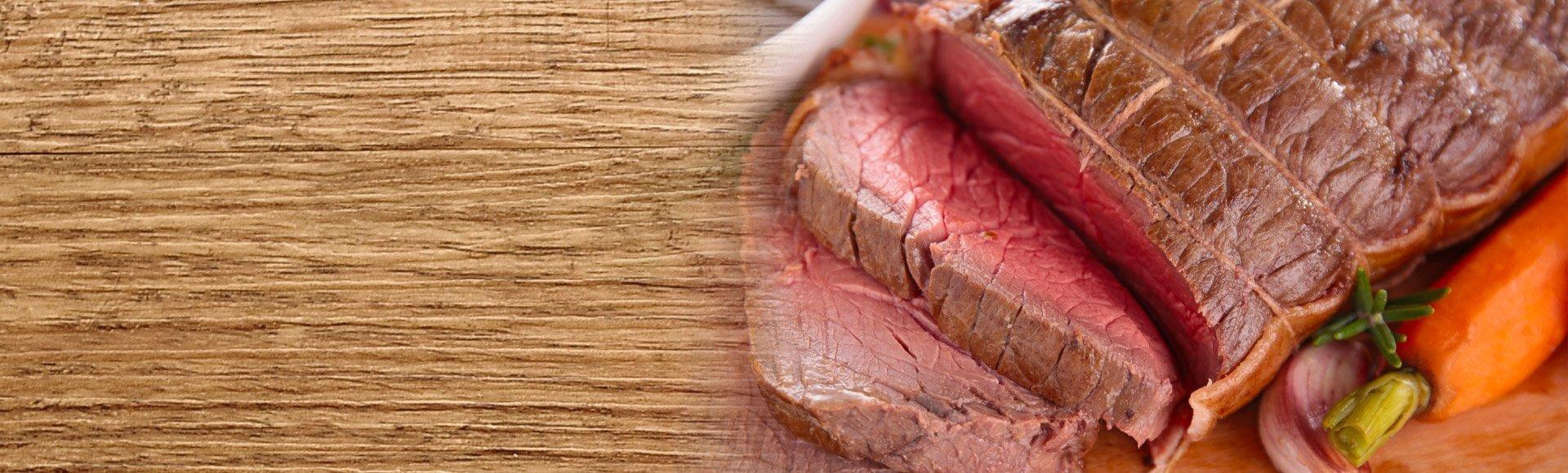 bison roast sliced